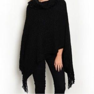 Jackets & Blazers - Black Poncho